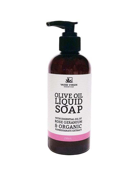 Rose Geranium & Pomegranate Liquid Soap 250ml