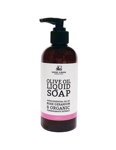 Rose Geranium Pomegranate Liquid Soap