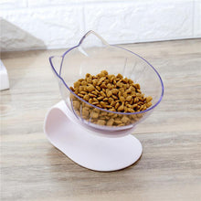 Load image into Gallery viewer, Non-Slip Transparent Pet Bowls With Raised Stand - Couture Whiskers