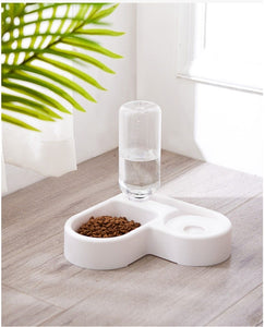 Automatic Double Food & Water Feeder - Couture Whiskers