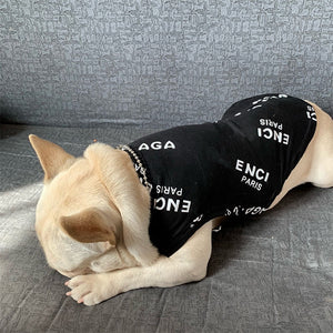 Fashion Luxury Pet Black Shirt