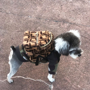 Fashion Luxury Dog Harness Backpack Bags