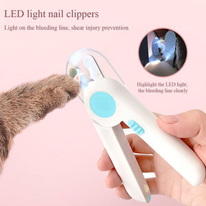 LED Lights Pet Nail Clipper Stainless Steel