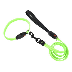 Durable LED Pet Leash Adjustable USB Pet Dog Collar Can Be Recycled Using Charging Light Lights Walk Dog Collar Pet Leash