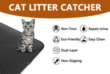 Load image into Gallery viewer, Waterproof Pet Cat Litter Mat Double Layer Pet Litter Box Mat Pet Products Bed For Cats House Clean
