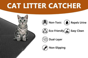 Waterproof Pet Cat Litter Mat Double Layer Pet Litter Box Mat Pet Products Bed For Cats House Clean