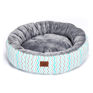 Crystal Plush Round  Pet Bed - Couture Whiskers