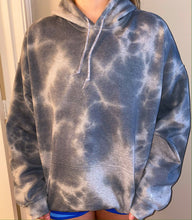 Load image into Gallery viewer, Gray Marble Tie Dye Hoodie