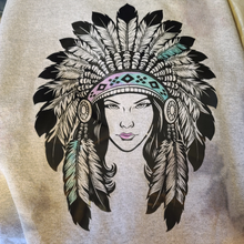 Load image into Gallery viewer, Distressed Dyed Native American Sweatshirt