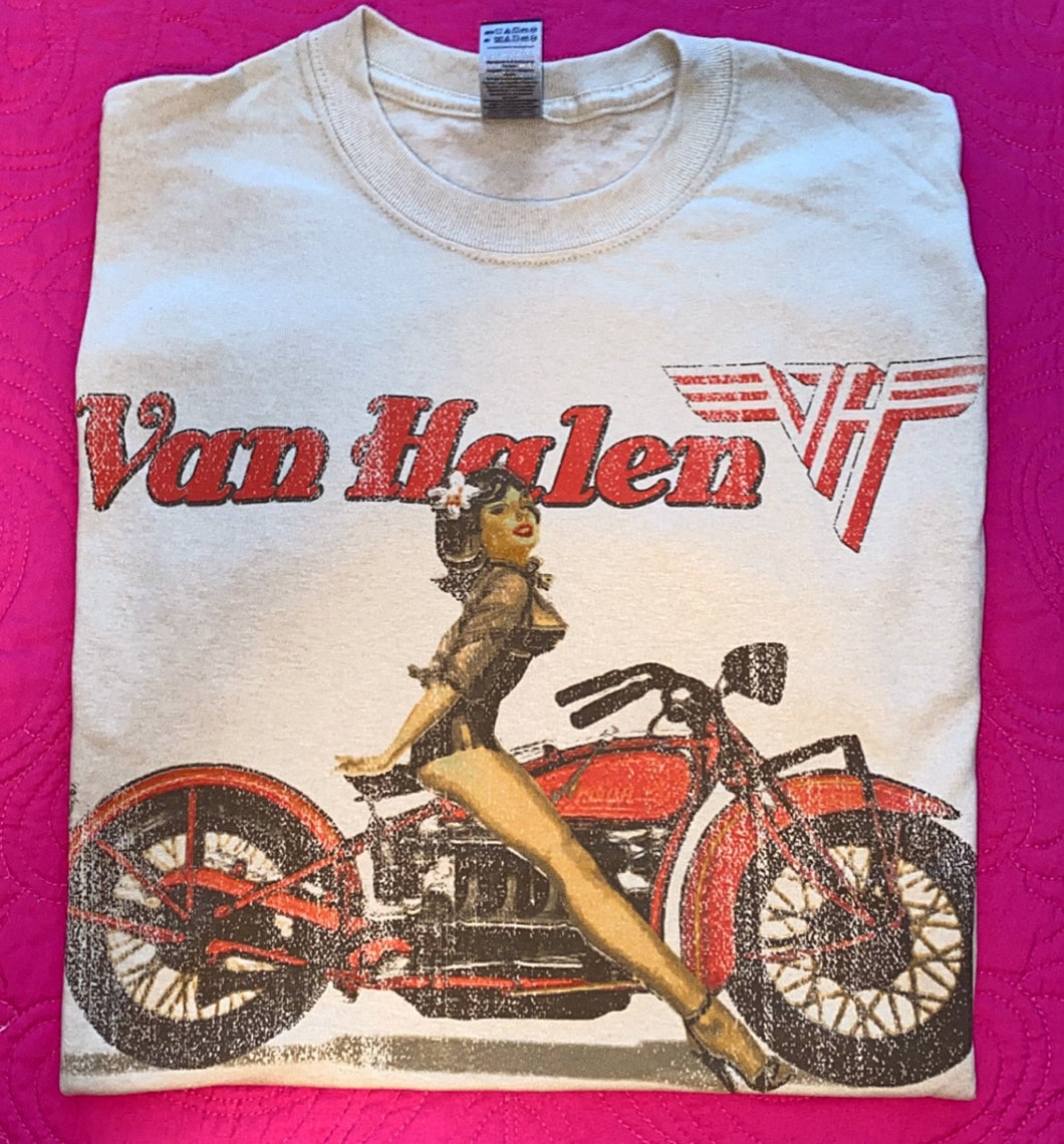 Van Halen Biker Pin Up