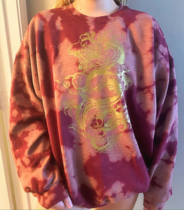 Dragon Distressed Maroon Sweatshirt
