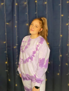 Purple Tie Dye Sweatsuit