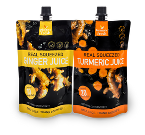 Load image into Gallery viewer, Ginger and Turmeric Juice 6-pack