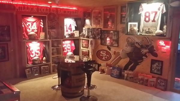 The Best San Francisco 49ers Man Cave.....in Wisconsin!