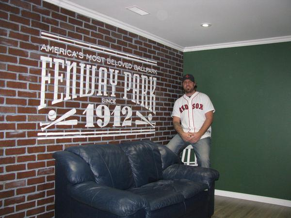 Boston Red Sox Man Cave - Inside the Green Monster