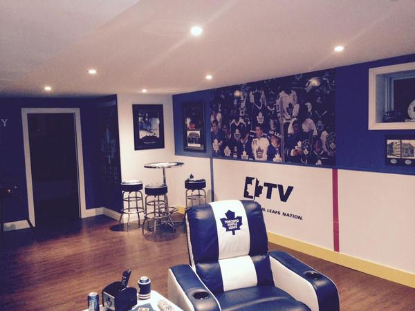 Hockey Fanatic and Dream Toronto Maple Leafs Man Cave