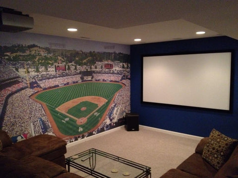 man cave wall photos