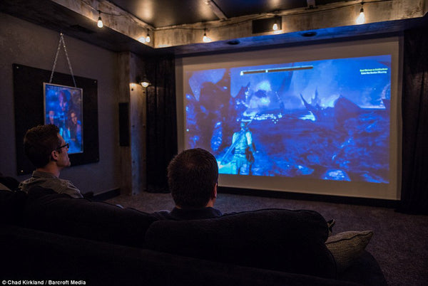Man Cave Ideas For Xbox One : Ultimate video game man cave elder scrolls edition —