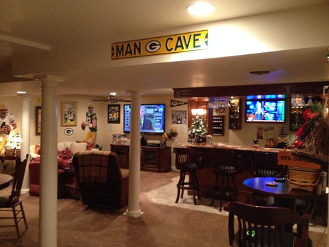 Packer Man Cave Signs : Green bay packers sign wood husband gift for