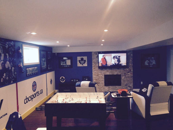 Custom Diy Hockey Man Cave Toronto Maple Leafs Style
