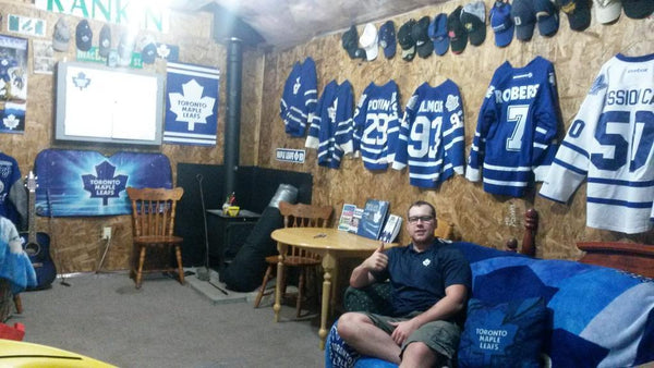 Toronto Maple Leafs man cave.