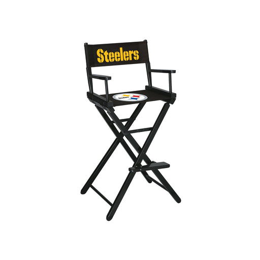Pittsburgh Steelers Bar Height Directors Chair | Man Cave Authority | IMP 100-1004