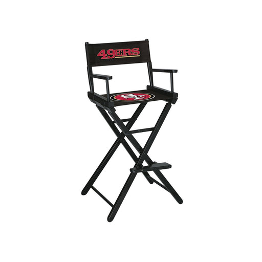San Francisco 49ers Bar Height Directors Chair | Man Cave Authority | IMP 100-1005