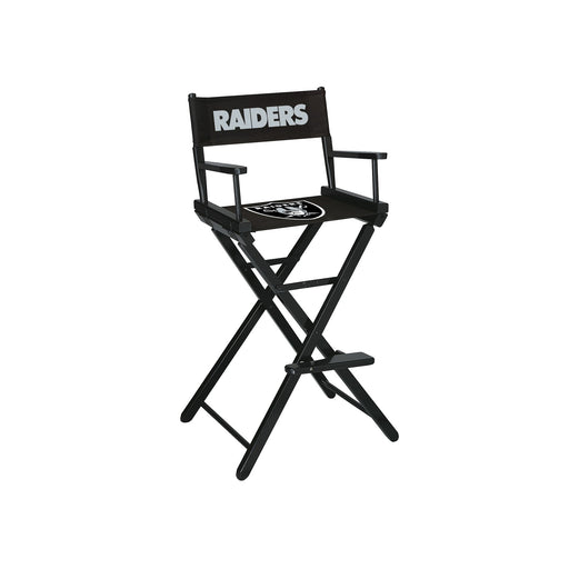 Oakland Raiders Bar Height Directors Chair | Man Cave Authority | IMP 100-1010