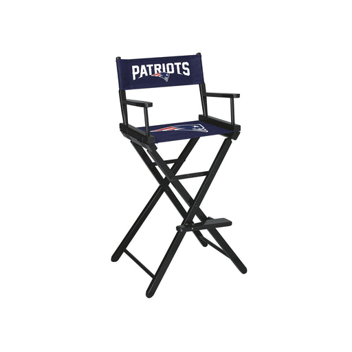 New England Patriots Bar Height Directors Chair | Man Cave Authority | IMP 100-1011