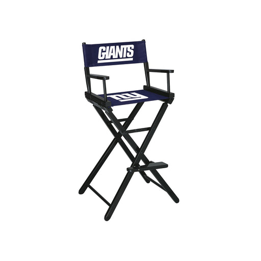 New York Giants Bar Height Directors Chair | Man Cave Authority | IMP 100-1013