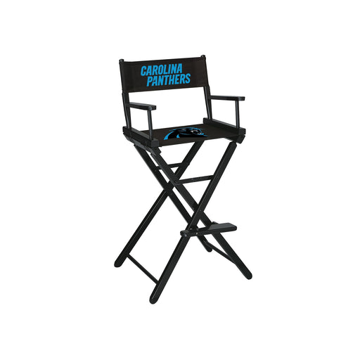 Carolina Panthers Bar Height Directors Chair | Man Cave Authority | IMP 100-1017