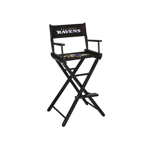 Baltimore Ravens Bar Height Directors Chair | Man Cave Authority | IMP 100-1025