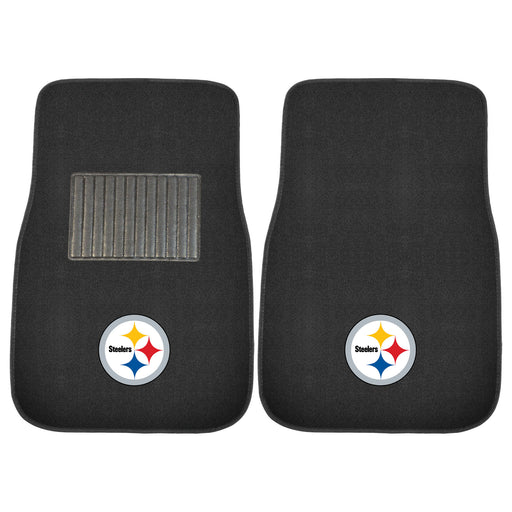 Pittsburgh Steelers 2-pc Embroidered Car Mat Set | Man Cave Authority | 10302