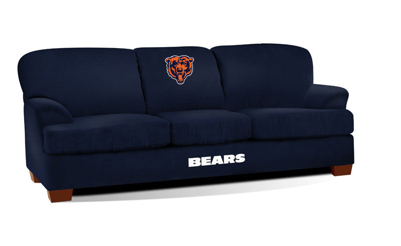 Chicago Bears First Team Microfiber Sofa | Man Cave Authority | IMP 105-1019