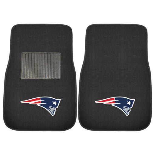 New England Patriots 2-pc Embroidered Car Mat Set | Man Cave Authority | 10739