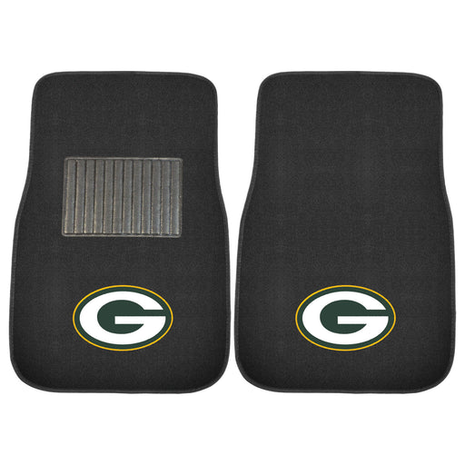 Green Bay Packers 2-pc Embroidered Car Mat Set | Man Cave Authority | 10744