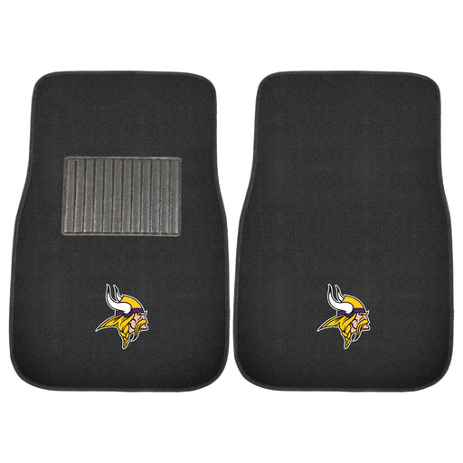 Minnesota Vikings 2-pc Embroidered Car Mat Set | Man Cave Authority | 10753