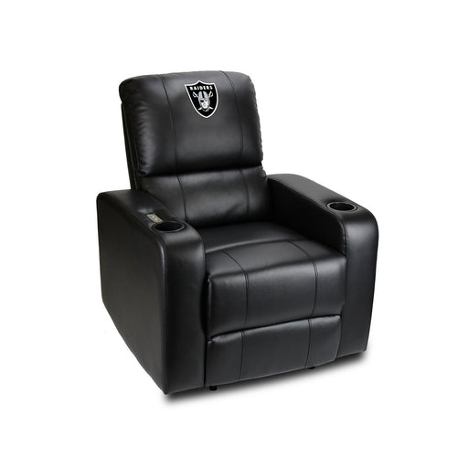 Oakland Raiders Power Theater Recliner with USB Port | Man Cave Authority | 117-1010
