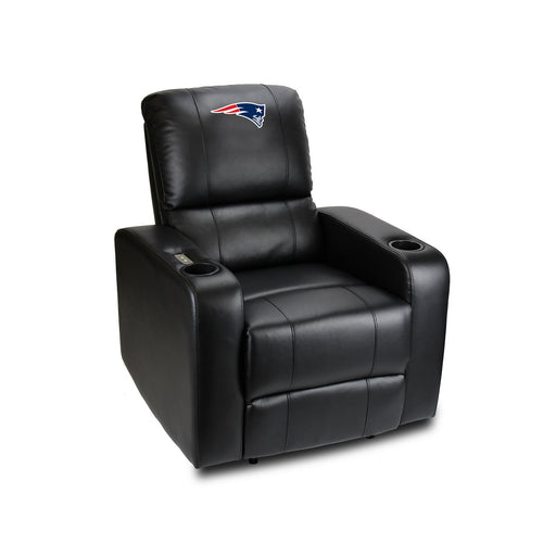 New England Patriots Power Theater Recliner with USB Port | Man Cave Authority | 117-1011
