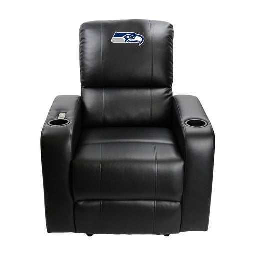 Seattle Seahawks Power Theater Recliner with USB Port | Man Cave Authority | 117-1024