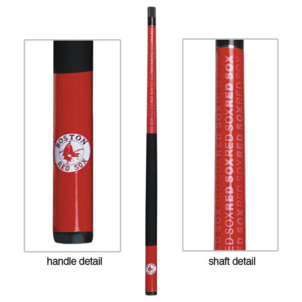 Boston Red Sox Billiard Cue Stick Close-up View
