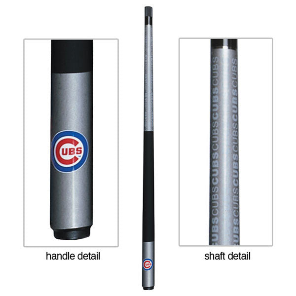 Chicago Cubs Billiard Cue Stick Close-up View