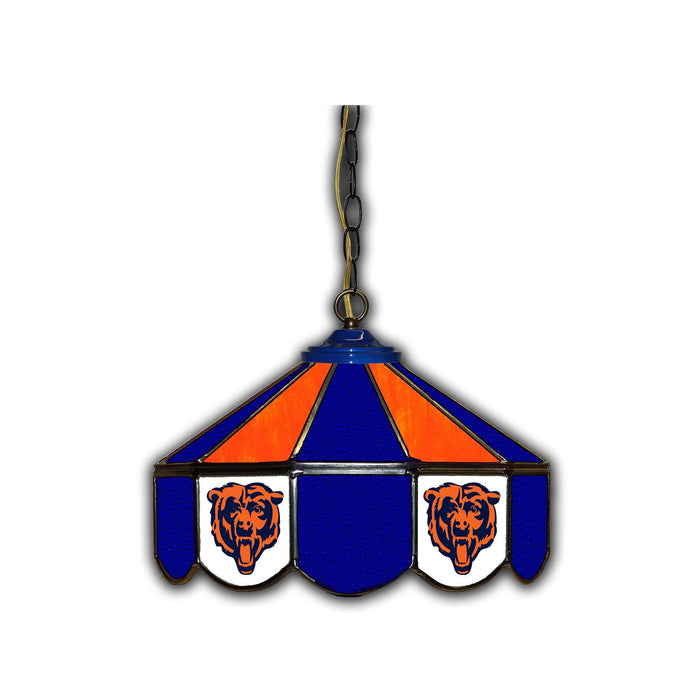 Chicago Bears Stained Glass Pub Lamp | Man Cave Authority | IMP 133-1019
