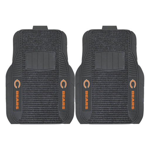 Chicago Bears 2-pc Deluxe Car Mat Set | Man Cave Authority | 13494