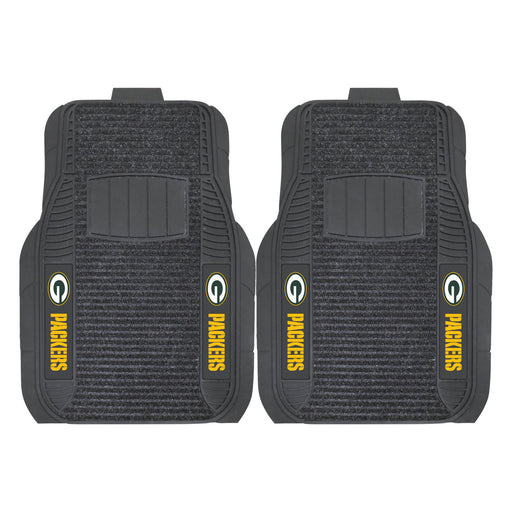 Green Bay Packers 2-pc Deluxe Car Mat Set | Man Cave Authority | 13498
