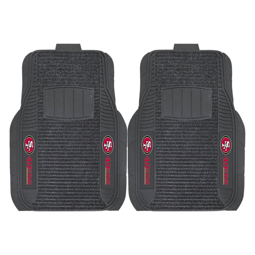 San Francisco 49ers 2-pc Deluxe Car Mat Set | Man Cave Authority | 13793
