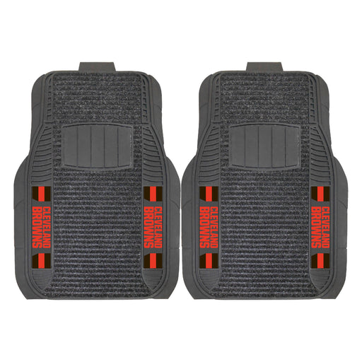 Cleveland Browns 2-pc Deluxe Car Mat Set | Man Cave Authority | 13800