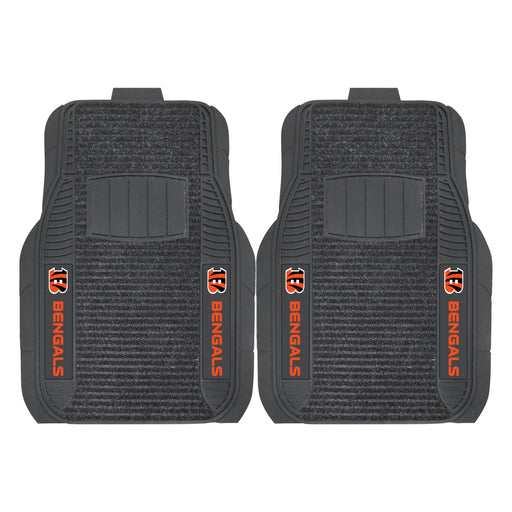 Cincinnati Bengals 2-pc Deluxe Car Mat Set | Man Cave Authority | 14754