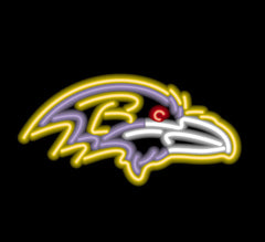 Baltimore Ravens Neon Sign | Man Cave Authority | IMP 150-1025