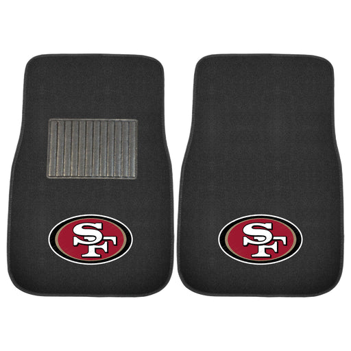 San Francisco 49ers 2-pc Embroidered Car Mat Set | Man Cave Authority | 17120